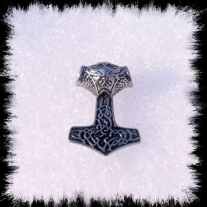 Pendant Thor Hammer With Bird Face