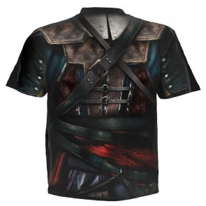ASSASSINS CREED IV BLACK FLAG - ALLOVER LICENSED T-SHIRT BLACK