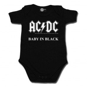Baby Bodysuit, AC/DC Baby In Black