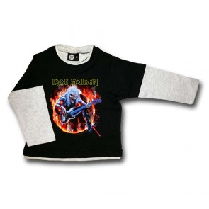 Kids Longsleeve, Iron Maiden Fear Live Flames