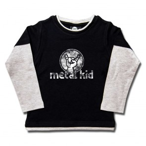 Kids Longsleeve, Metal Kid Vintage