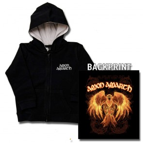 Kids Zipper Hoodie, Amon Amarth Burning Eagle