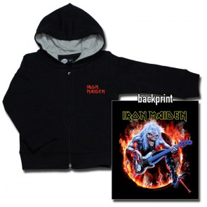 Kids Zipper Hoodie, Iron Maiden Fear Live Flames