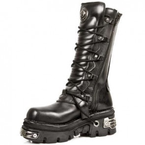 M.1012-C1 New Rock High Boots Metallic