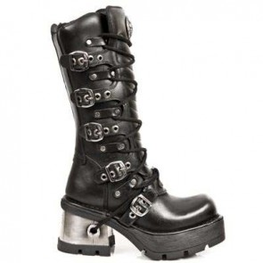 M.1016-S1 New Rock High Boots Metallic