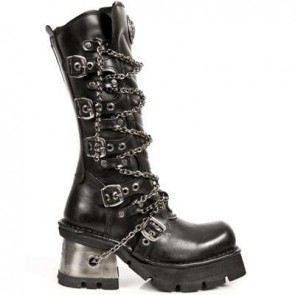 M.1017-S1 New Rock High Boots Metallic