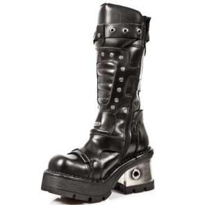 M.1021-C1 New Rock High Boots Metallic