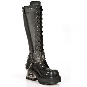 M.1027-C1 New Rock High Boots Metallic