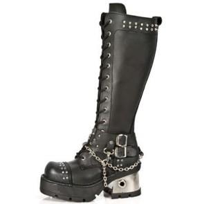 M.1027-S1 New Rock High Boots Metallic