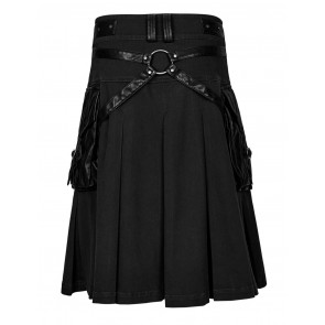 Aries Men Kilt Black - Punk Rave