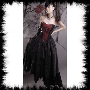 Punk Rave Black And Red Dress With Cross