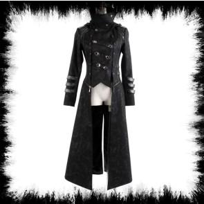 Gothic Punk Rave Hooded Coat