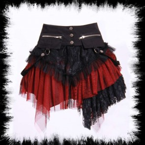 Mini Skirt With Hipbags Red