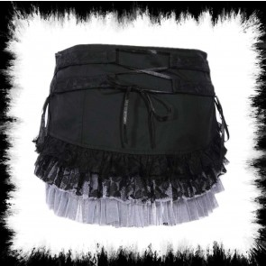 Many Layer Skirt Gray Black