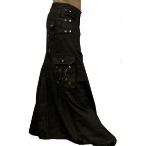 Long Gothic Men Skirt 3 Hip Strap