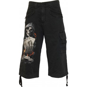 ACE REAPER - THREE QUARTER SHORTS BLACK