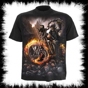 Biker Metal T Shirt Wheels Of Fire