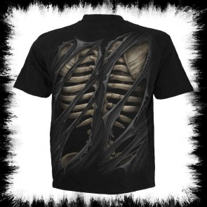 Bone Rips T Shirt Black