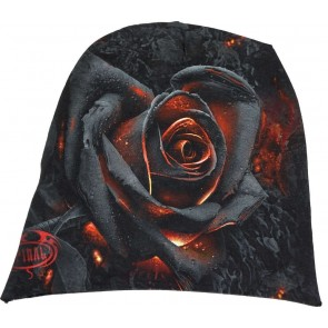 BURNT ROSE – LIGHT COTTON BEANIES BLACK