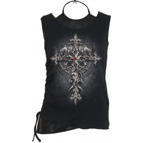 Custodian Gothic Pu Leather Top