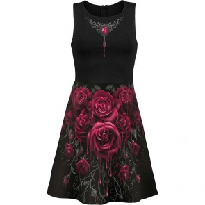 Gothic Kleid Blood Roses
