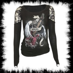 Heavy Metal Lady Longsleeve Rock Angel
