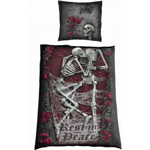REST IN PEACE - Single One Print Bedlinen + EU Pillow