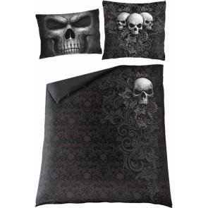 SKULL SCROLL - Double Duvet Cover + UK And EU Pillow case