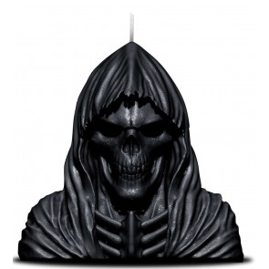 WAX REAPER WITH SKULL - SCENTED CANDLE WITH METAL SCULPTURE INSIDE