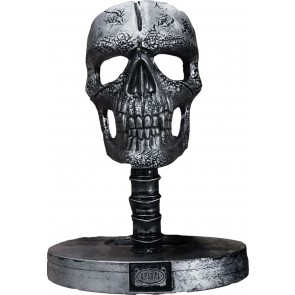 WAX REAPER WITH SKULL - CANDLE WITH METAL SCULPTURE INSIDE