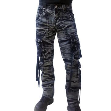 Pantalon Batik Gris Et Noir