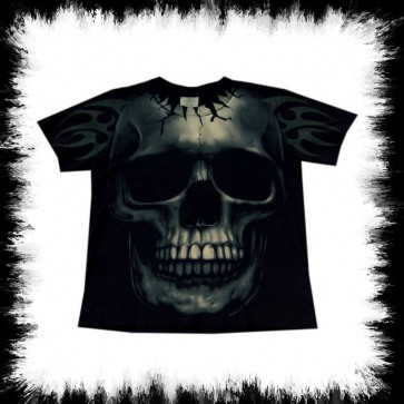Heavy Metal T Shirt Big Skull