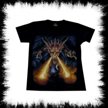 Heavy Metal T Shirt Fire Dragon