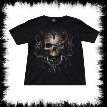 Heavy Metal T Shirt Mechanic Skull
