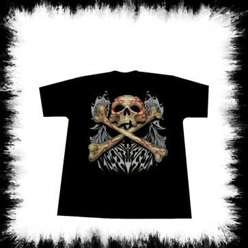 Heavy Metal T Shirt Crâne Et Os Tribale