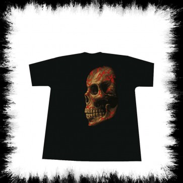 Heavy Metal T Shirt Tribal Skull Side