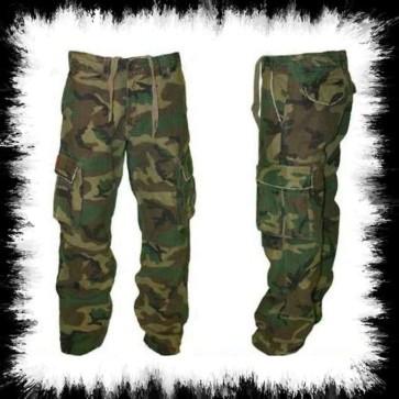 Pantalons Molecule En Camouflage Verte