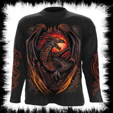 Fantasie T Shirt Manches Longues Dragon Furnece