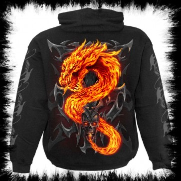 Fire Dragon Hoody Schwarz