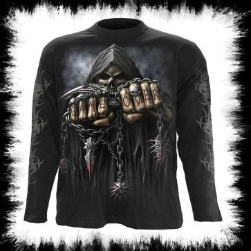 Gameover T Shirt à Manches Longues Style Gothique