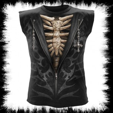 Gothic Tanktop Knochen Tribal