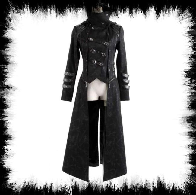 Rave Noir Gothique Capuche Manteau Punk Avec xedCrBo
