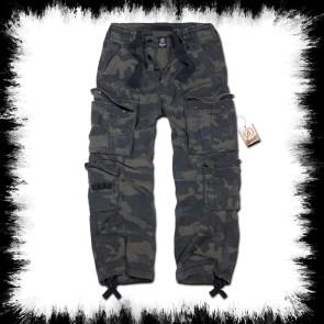 Brandit Pantalon Pure Vintage Dark Camouflage Gris