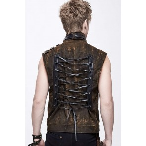 Devil Fashion marron Gothic Vest Hommes