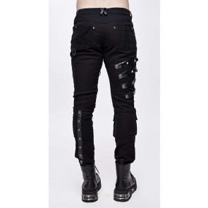 Devil Fashion - Bondage de pantalon gothique pour homme avec poche au genou.