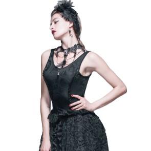 Corset Look Top Gothique Elastic