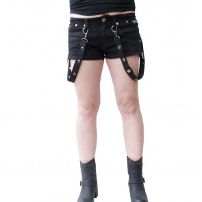 Panta Court Femme Gothique Bondage