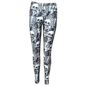 Leggings Gothiques Squelettes