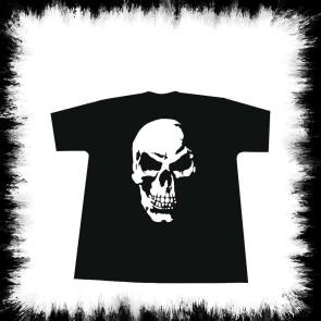 Enfants T Shirt Ombre Crâne Méchant