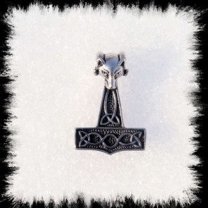 Pendentif Bijou Marteau Thor Viking Belier
